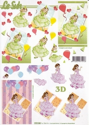 A4 Knipvel Le Suh 777145 Meisjes met lange jurk