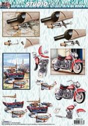 A4 Knipvel Studio Light Heren SL1064 Boot/moto/wijn