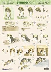 A4 Knipvel Studio Light MIH 044 Honden Basset