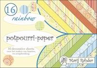 Boekje achtergrond Marij Rahder Potpourri MRP16  Rainbow