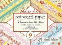 Boekje achtergrond Marij Rahder Potpourri MRP09 Ladies First