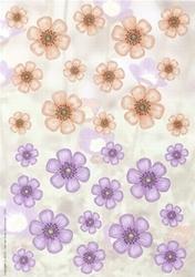 A4 Achtergrondvel Nel van Veen 3331 bloemen