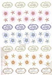 A4 Achtergrondvel Nel van Veen 3324 bloem assorti