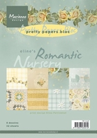 MD Pretty Paper Bloc PB7038 Eline's Romantic nursery