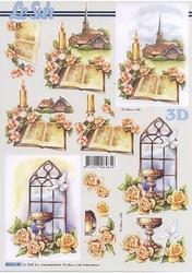 A4 Knipvel Le Suh 8215149 Kerkraam/kerkje/bijbel/communie