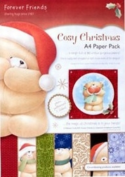 Forever Friends Cosy Christmas FFS 160100 A4 Paper pack