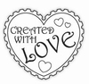 Clearstamp CWLS02 Created with Love stempel