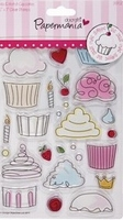 Mix & match clear stamp 907200 little cake shoppe cupcake