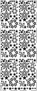 Kerst stickervel PickUp 059 Sterretjes