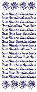 Tekststicker VBK 002 Voor Moeder/vader/oma/opa