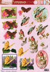 Studio Light 3D Stansvel Frames SL24 Vogels/vlinders