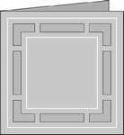 Romak 4-kant kaart 268 Banner vierkant 23 rood