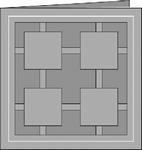 Romak 4-kant kaart 244 Quattro Banner 4-kant 21 wit