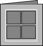 Romak 4-kant kaart 126 Venster 21 wit