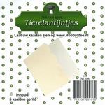 Tierelantijntje/Nel van Veen Kaart N1204 wit