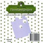 Tierelantijntje/Nel van Veen Stansjes bloem N1301 wit