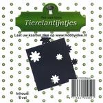 Tierelantijntje/Nel van Veen Stansjes bloem N1303 blauw