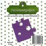 Tierelantijntje/Nel van Veen Stansjes bloem N1302 paars
