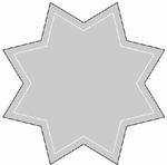 Romak Oplegkaart 334 grote ster 25 blauw