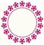 Foliart 4-kante Laser kaart K8313 rond sneeuwvlok 03 crèm
