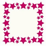 Foliart 4-kante Laser kaart K8318 4-kant sterrenrand 03 crèm