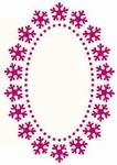 Foliart Laser stanskaart R8313 ovaal sneeuwvlok 02 wit
