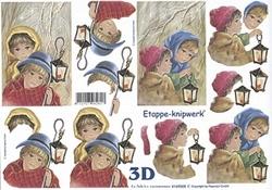 A4 Knipvel Le Suh Kerst 4169508 Kinderen met lantaarntje