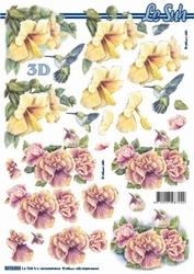 A4 Knipvel Le Suh 8215536 Gele roze hibiscus