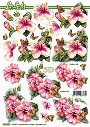 A4 Knipvel Le Suh 8215535 Roze hibiscus