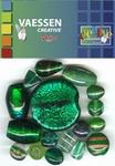 Kralen Crackle beads ass. groen 23650-005