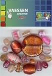 Kralen Crackle beads ass. bruin-roze 23650-006