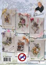 Creatief Art SWK85-016 Staf Wezenbeek Bloemen en vlinders