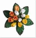 Reddy Mini rozen knopjes 30411 geel/oranje/wit