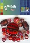 Kralen Crackle beads ass. rood 23650-009