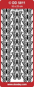 Doodey Stickervel DD5811 Vlinders