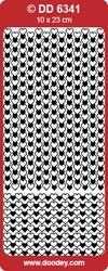 Doodey Stickervel DD6341 Rand Hartjes