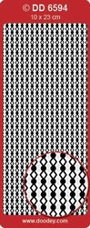 Doodey Stickervel DD6594 Rand ruit