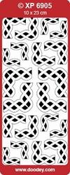 Doodey Stickervel XP6905 Vlechtwerk Rond Hoeken