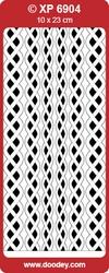 Doodey Stickervel XP6904 Rand Vlechtwerk Rond