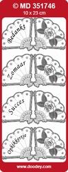 Doodey Stickervel MD351746 Mini kaart bedankt/zomaar/succes