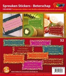 Scrapbook stickers Doodey GS651052 Beterschap