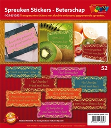 Scrapbook stickers Doodey GS651052 Beterschap