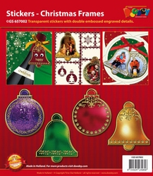 Scrapbook stickers Doodey GS657002 Kerstframes