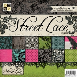 DCWV Paper stack PS-005-00101 Street lace