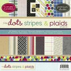 DCWV Paper stack PS-005-00105 Dots,Stripes & Plaids