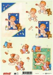 3D Knipvel Pick UP Pu031 Baby geboorte jongen/meisje