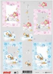 3D Knipvel Pick UP Pu030 Baby geboorte jongen/meisje