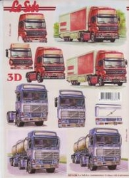 A4 Knipvel Le Suh  821506 Vrachtwagen rood/blauw