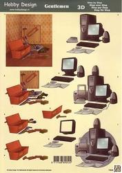 3D Knipvel Hobby Design 73048 Heren gereedschap/computer