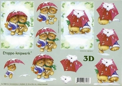 A4 Knipvel Le Suh Kerst 4169341 Beertjes onder paraplu